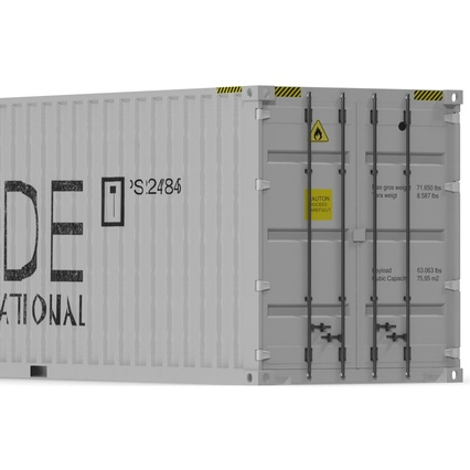 40 ft High Cube Container White. Render 19