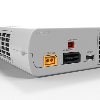 Nintendo Wii U Set White. Render 42