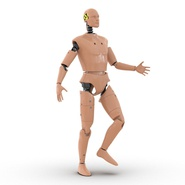 Male Crash Test Dummy Rigged for Cinema 4D. Preview 8