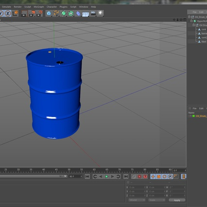 Oil Drum 200l Blue. Render 17