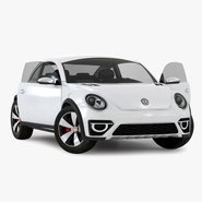 Volkswagen Beetle 2016 White Rigged
