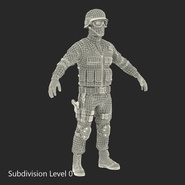 SWAT Man Mediterranean Rigged for Cinema 4D. Preview 44
