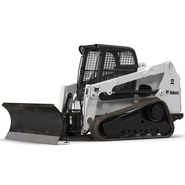 Compact Tracked Loader Bobcat With Blade. Preview 2