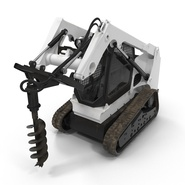 Compact Tracked Loader with Auger. Preview 10