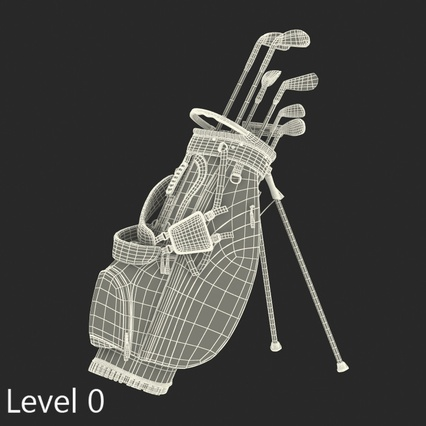 Golf Bag Seahawks with Clubs. Render 17