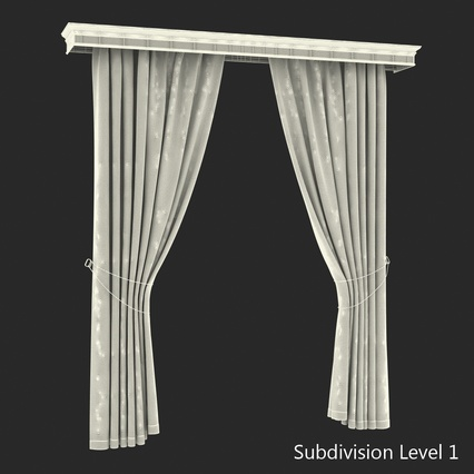 Curtains Collection. Render 67