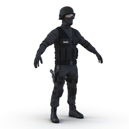 SWAT Man Mediterranean Rigged for Maya. Render 10