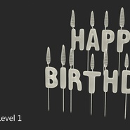 Happy Birthday Candles with Flame. Preview 15