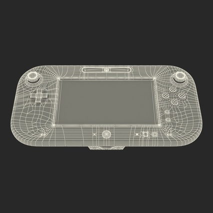 Nintendo Wii U Set White. Render 62