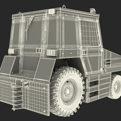 Push Back Tractor Hallam HE50 Rigged. Render 28