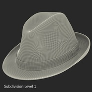 Fedora Hat Blue. Preview 21