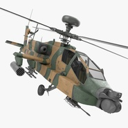 AH-64D Apache Longbow Japan Rigged. Preview 1