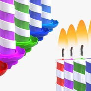 Birthday Candles with Flame Set. Preview 8
