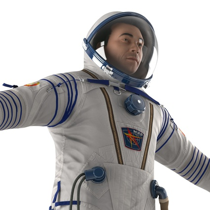 Russian Astronaut Wearing Space Suit Sokol KV2 Rigged for Maya. Render 25