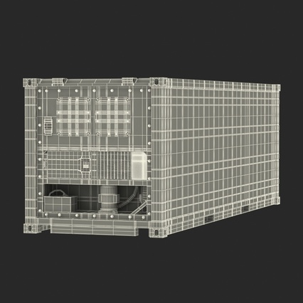 ISO Refrigerated Container. Render 38