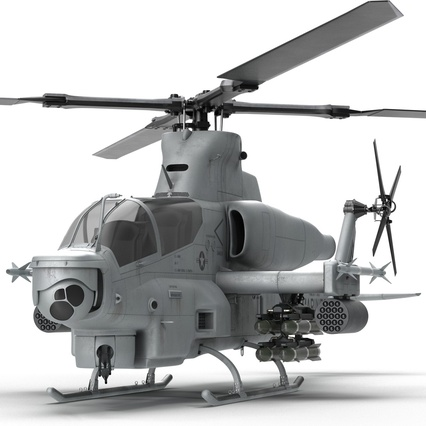 Attack Helicopter Bell AH 1Z Viper Rigged. Render 36