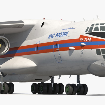 Ilyushin Il-76 Emergency Russian Air Force Rigged. Render 16