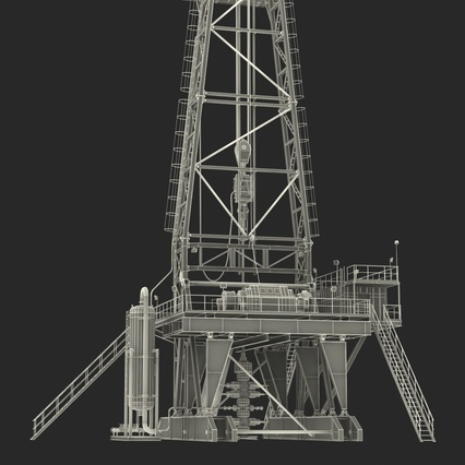 Fracking Gas Platform. Render 49