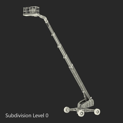 Telescopic Boom Lift Generic 4 Pose 2. Render 66