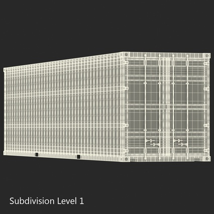 40 ft High Cube Container Green. Render 34