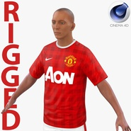 Soccer Player Manchester United Rigged 2 for Cinema 4D