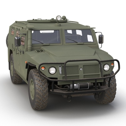 Russian Mobility Vehicle GAZ Tigr M Rigged. Render 17