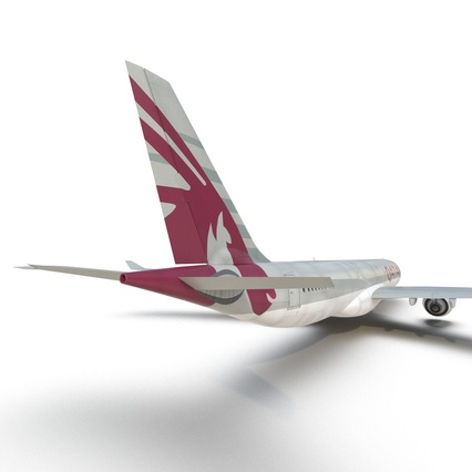 Jet Airliner Airbus A330-300 Qatar Rigged. Render 41