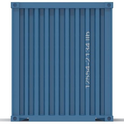 40 ft High Cube Container Blue 2. Render 18