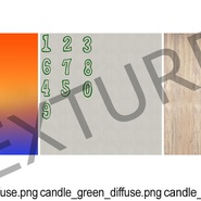 Number Birthday Candles with Flame. Preview 15