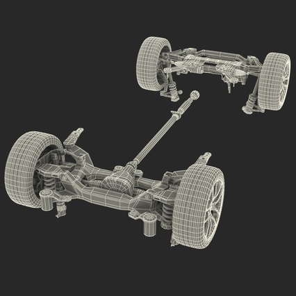 Sedan Chassis. Render 53