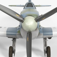 Royal Air Force Fighter Supermarine Spitfire LF Mk IX Rigged. Preview 16