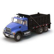 Dump Truck Mack Rigged. Preview 15