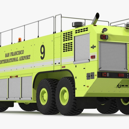Oshkosh Striker 4500 Aircraft Rescue and Firefighting Vehicle Rigged. Render 10