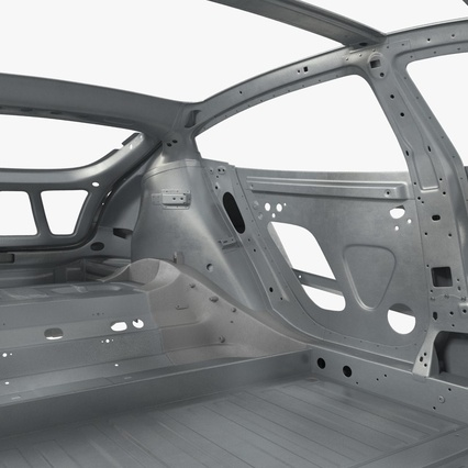 Tesla Model S Frame and Chassis. Render 22