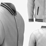 White Baseball Jacket. Preview 8