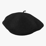Wool Classic Beret Hat. Preview 1