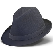 Fedora Hat Blue. Preview 3