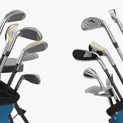 Golf Bag Seahawks with Clubs. Render 14