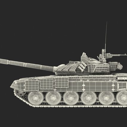 T72 Main Battle Tank Camo Rigged. Render 5