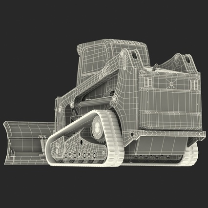 Compact Tracked Loader Bobcat With Blade Rigged. Render 52