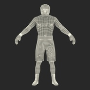 African American Boxer Rigged for Cinema 4D. Preview 4