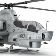 Attack Helicopter Bell AH 1Z Viper Rigged. Preview 47
