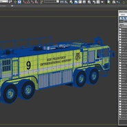 Oshkosh Striker 4500 Aircraft Rescue and Firefighting Vehicle Rigged. Preview 31