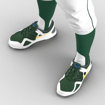 Baseball Player Outfit Athletics 3. Render 28