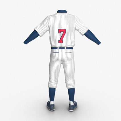 Baseball Player Outfit Generic 8. Render 7