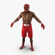 African American Boxer Red Suit