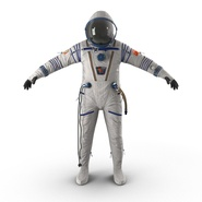 Russian Space Suit Sokol KV2 Rigged. Preview 3
