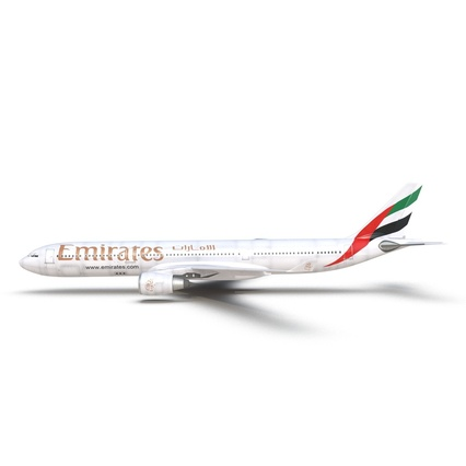Jet Airliner Airbus A330-300 Emirates Rigged. Render 19
