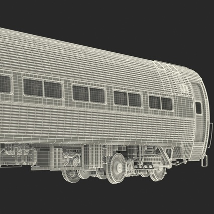 Railroad Amtrak Passenger Car 2. Render 70