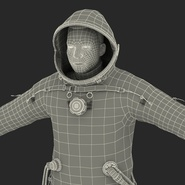 Russian Astronaut Wearing Space Suit Sokol KV2 Rigged for Maya. Preview 58
